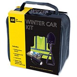 Image of AA Winter Car Kit Contains Snow Shovel/Vest/Emergency Blanket and Dynamo Torch Ref 5060114513386