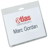 Durable Name Badges Security Without Clip / 90x60mm / Pack of 20