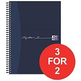 Image of Oxford MyNotes Notebook / A4 / Feint Ruled with Margin / 200 Pages / Pack of 3 / 3 for the Price of 2