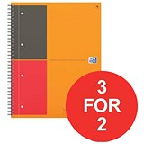 Image of Oxford International Connect Wirebound Notebook / A4 / 3 for the Price of 2
