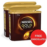 Image of Nescafe Gold Blend Instant Coffee / 750g Tin x 2 / Offer Includes FREE Rolos