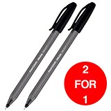 Image of Paper Mate InkJoy 100 Ballpoint Pen / Black / Pack of 50 / Buy One Get One FREE