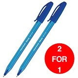 Image of Paper Mate InkJoy 100 Ballpoint Pen / Blue / Pack of 50 / Buy One Get One FREE