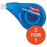 Image of Tipp-Ex Easy-correct Correction Tape Roller / 4.2mmx12m / Pack of 10 / Buy One Get One FREE
