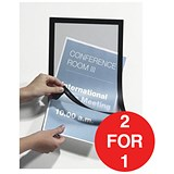 Image of Durable Duraframe / A4 / Self-Adhesive / Black / Pack of 2 / Buy One Get One FREE