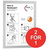 Image of Durable Duraframe / A3 / Self-Adhesive / Silver / Pack of 2 / Buy One Get One FREE
