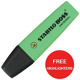 Image of Stabilo Boss Highlighters / Red / Pack of 10 / Offer Includes FREE Pack of Highlighters