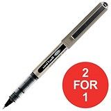 Image of Uni-ball Eye UB157 Rollerball Pen / Fine / 0.7mm Tip / 0.5mm Line / Black / Pack of 12 / Buy One Get One FREE