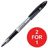 Image of Uniball AIR UBA-188L Rollerball Pens / Black / Pack of 12 / Buy One Get One FREE