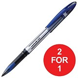 Image of Uniball AIR UBA-188L Rollerball Pens / Blue / Pack of 12 / Buy One Get One FREE