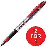 Image of Uniball AIR UBA-188L Rollerball Pens / Red / Pack of 12 / Buy One Get One FREE