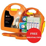 Image of Wallace Cameron First-Aid Kit Van and Truck Kit with Bracket - Offer Includes FREE Breathalyser