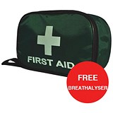 Image of Wallace Cameron BS 8599-2 Compliant First Aid Travel Kit / Medium / Offer Includes FREE Breathalyser