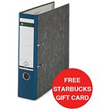 Image of Leitz Standard A4 Lever Arch Files / 80mm Spine / Blue / Pack of 10 / Offer Includes FREE £5 Starbucks Gift Card