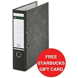 Image of Leitz Standard A4 Lever Arch Files / 80mm Spine / Black / Pack of 10 / Offer Includes FREE £5 Starbucks Gift Card