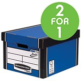 Image of Fellowes Bankers Box / Premium 725 Classic Box / Pack of 10 / Buy One Get One FREE