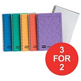 Image of Europa Notebook / Twinwire / Ruled / 120 Pages / A5 / Assorted / Pack of 10 / 3 for the Price of 2