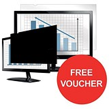 Image of Fellowes Blackout Privacy Filter / 17 inch / 4:3 / Offer Includes FREE Gift Voucher