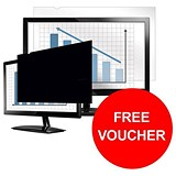 Image of Fellowes Blackout Privacy Filter / 20 inch Widescreen / 16:9 / Offer Includes FREE Gift Voucher