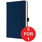 Image of Sigel Conceptum Hard Cover Notebook / A5 / Ruled / 194 Pages / Blue / Buy One Get One FREE