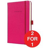 Image of Sigel Conceptum Hard Cover Notebook / A5 / Ruled / 194 Pages / Pink / Buy One Get One FREE