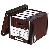 Image of Fellowes Premium 726 Archive Bankers Box / Woodgrain / Pack of 10