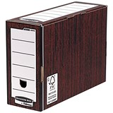 Image of Fellowes Bankers Box Premium Transfer Files / Woodgrain / Pack of 10