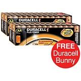 Image of Duracell Plus Power Alkaline Battery / 1.5V / AA / 2 Packs of 24 / Offer Includes FREE Duracell Bunny