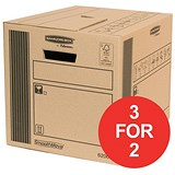 Image of Fellowes Classic Cargo Storage Box / 41 Litre / Pack of 10 / 3 for the Price of 2