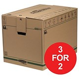 Image of Fellowes Smooth Move Bankers Removal Boxes / Extra Large / Pack of 5 / 3 for the Price of 2