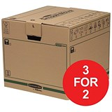 Image of Fellowes Smooth Move Bankers Removal Boxes / Large / Pack of 5 / 3 for the Price of 2