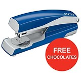Image of Leitz NeXXt Stapler / 3mm / 30 Sheet Capacity / Blue / Offer Includes FREE Rolos