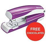 Image of Leitz NeXXt WOW Stapler / 3mm / 30 Sheet Capacity / Purple / Offer Includes FREE Rolos