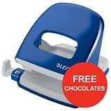 Image of Leitz NeXXt Hole Punch / Blue / Punch capacity: 30 Sheets / Offer Includes FREE Rolos