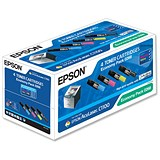 Image of Epson S050268 Laser Toner Cartridge Economy Pack - Black, Cyan, Magenta and Yellow (4 Cartridges)