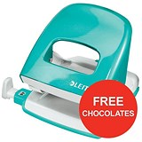 Image of Leitz NeXXt WOW Hole Punch / Ice Blue / Punch capacity: 30 Sheets / Offer Includes FREE Rolos