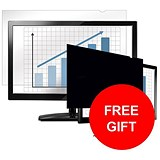 Image of Fellowes Blackout Privacy Filter / 19 inch / 5:4 / Offer Includes FREE 32GB USB Flash Drive