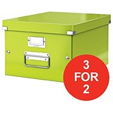 Image of Leitz WOW Click & Store Medium Storage Box / A4 / Green / 3 for the Price of 2