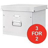 Image of Leitz Click & Store Archive Box For A4 Suspension Files / White / 3 for the Price of 2