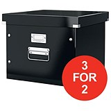 Image of Leitz Click & Store Archive Box For A4 Suspension Files / Black / 3 for the Price of 2