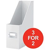 Image of Leitz WOW Click & Store Magazine File / White / 3 for the Price of 2
