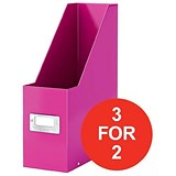 Image of Leitz WOW Click & Store Magazine File / Pink / 3 for the Price of 2