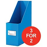 Image of Leitz WOW Click & Store Magazine File / Blue / 3 for the Price of 2