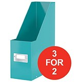 Image of Leitz WOW Click & Store Magazine File / Ice Blue / 3 for the Price of 2