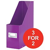 Image of Leitz WOW Click & Store Magazine File / Purple / 3 for the Price of 2