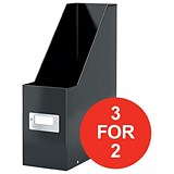 Image of Leitz WOW Click & Store Magazine File / Black / 3 for the Price of 2