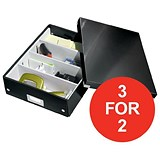 Image of Leitz Click & Store Organiser Box / Medium / Black / 3 for the Price of 2