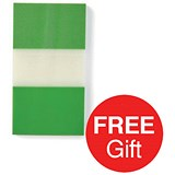 Image of 5 Star Standard Index Flags / 50 Sheets per Pad / 25x45mm / Green / 4 Packs of 5 / Offer Includes FREE Index Flags