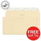 Image of Blake Premium DL Wallet Envelopes / Laid / Vellum / Peel & Seal / 120gsm / 2 Packs of 500 / Offer Includes FREE Zebra Soft Toy