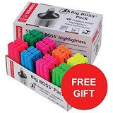 Image of Stabilo Boss Highlighters / 8 Assorted Colours / Pack of 48 / Offer Includes FREE Family Circle biscuits